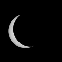 Stages of the eclipse (to 93%).  Note the sunspots.