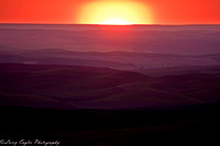 Sun sinking over the Palouse